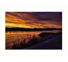 Sunrise over the River Art Print