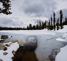 Frozen Lake in the Uinta Mountains of Utah by Alan Mitchell
