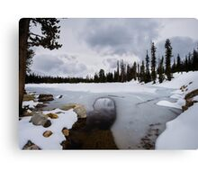 Frozen Lake in the Uinta Mountains of Utah Canvas Print