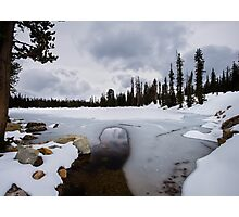 Frozen Lake in the Uinta Mountains of Utah Photographic Print