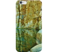 Rock Wall Reflections iPhone Case/Skin