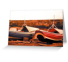Craster Cobles Greeting Card