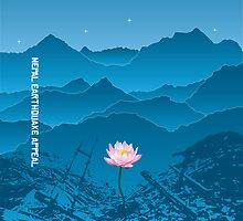 Nepal Earthquake Appeal - Pillow by IcePie