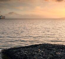 Queen Mary 2 Sunset Sticker