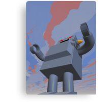 Retro Style Robot 2 Canvas Print