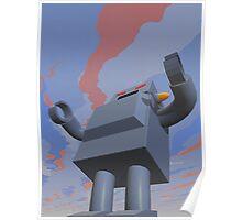 Retro Style Robot 2 Poster