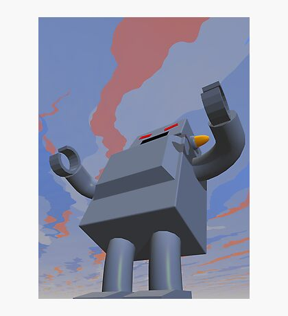 Retro Style Robot 2 Photographic Print