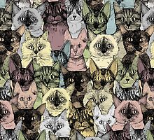 just cats retro by Sharon Turner