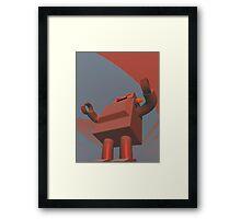 Retro Style Robot 3 Framed Print