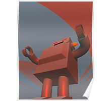 Retro Style Robot 3 Poster