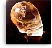 Side view tiny skull  Canvas Print