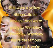 She wore a yellow ribbon - Arsenal by ArsenalArtz