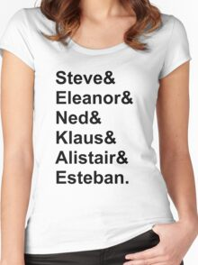The Life Aquatic Characters Women's Fitted Scoop T-Shirt