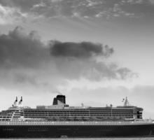 Queen Mary 2 mono Sticker