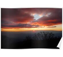 Sunset from Little Feathertop Poster