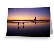 When the sun goes down the rock spirits play Greeting Card