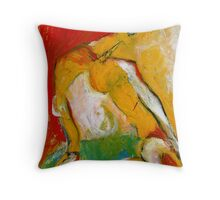 red slipper Throw Pillow