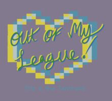 Out of my league! cyan/yellow Kids Clothes