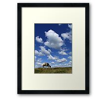 Doesn't that cloud look like a Sheep? Framed Print