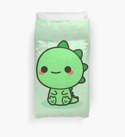 Kawaii Dinosaur Duvet Cover