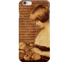 Girl with Doll iPhone Case/Skin