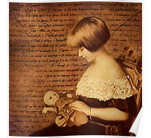 Girl with Doll Poster