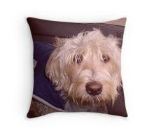 Sad dog Throw Pillow