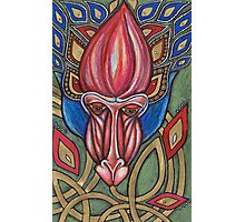 The Mystical Mandrill Speaks with the Honeyed Tongue of Flowers..... Photographic Print