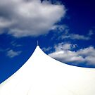 White Tent Blue Sky by Wesley Rose