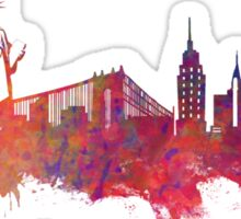 New York city Skyline red Sticker