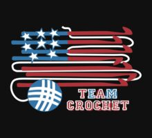 Team crochet USA flag patriotic crochet hooks by BigMRanch