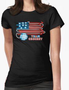 Team crochet USA flag patriotic crochet hooks T-Shirt