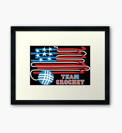 Team crochet USA flag patriotic crochet hooks Framed Print