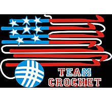 Team crochet USA flag patriotic crochet hooks Photographic Print