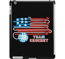 Team crochet USA flag patriotic crochet hooks iPad Case/Skin