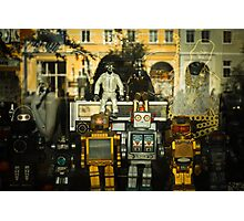 Vintage Robots in a window Photographic Print