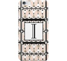 1920s Pink Champagne Gatsby Monogram letter i iPhone Case/Skin