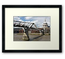 Millenium Bridge, London, United Kingdom Framed Print