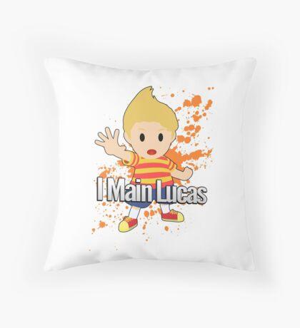 I Main Lucas - Super Smash Bros. Throw Pillow