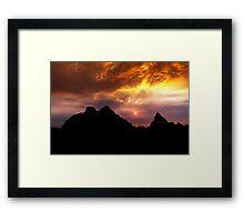 Sunset over Badlands National Park .2 Framed Print