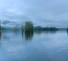 A misty morning on Lake George, NY by Shubhankar Ray