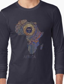 Africa map ancient Long Sleeve T-Shirt