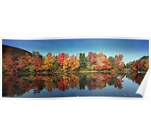 Fall Colors, Brant Lake, NY Poster