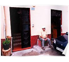 Old men on the small Canary island of La Gomera Poster