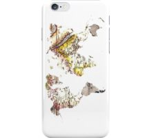 Map of the world Maps iPhone Case/Skin