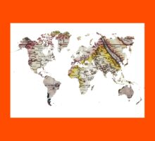 Map of the world Maps Kids Clothes
