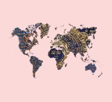 Map of the world sun Kids Clothes