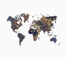 Map of the world sun Kids Tee