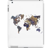 Map of the world sun iPad Case/Skin