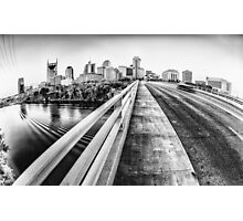 Road to Nashville in Black and White Photographic Print